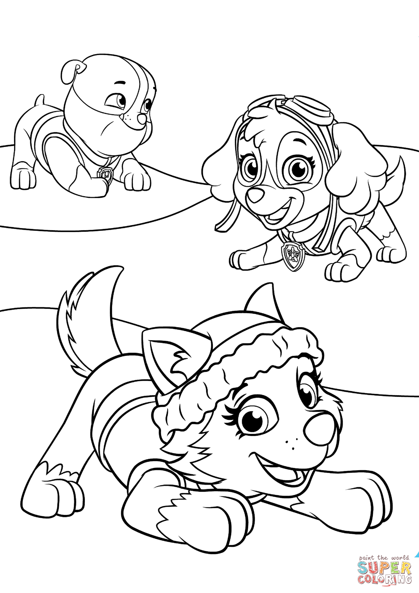 everest paw patrol coloring pin on coloring pages patrol coloring everest paw