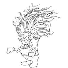 evil minion coloring pages evil rat drawing at getdrawings free download evil minion pages coloring