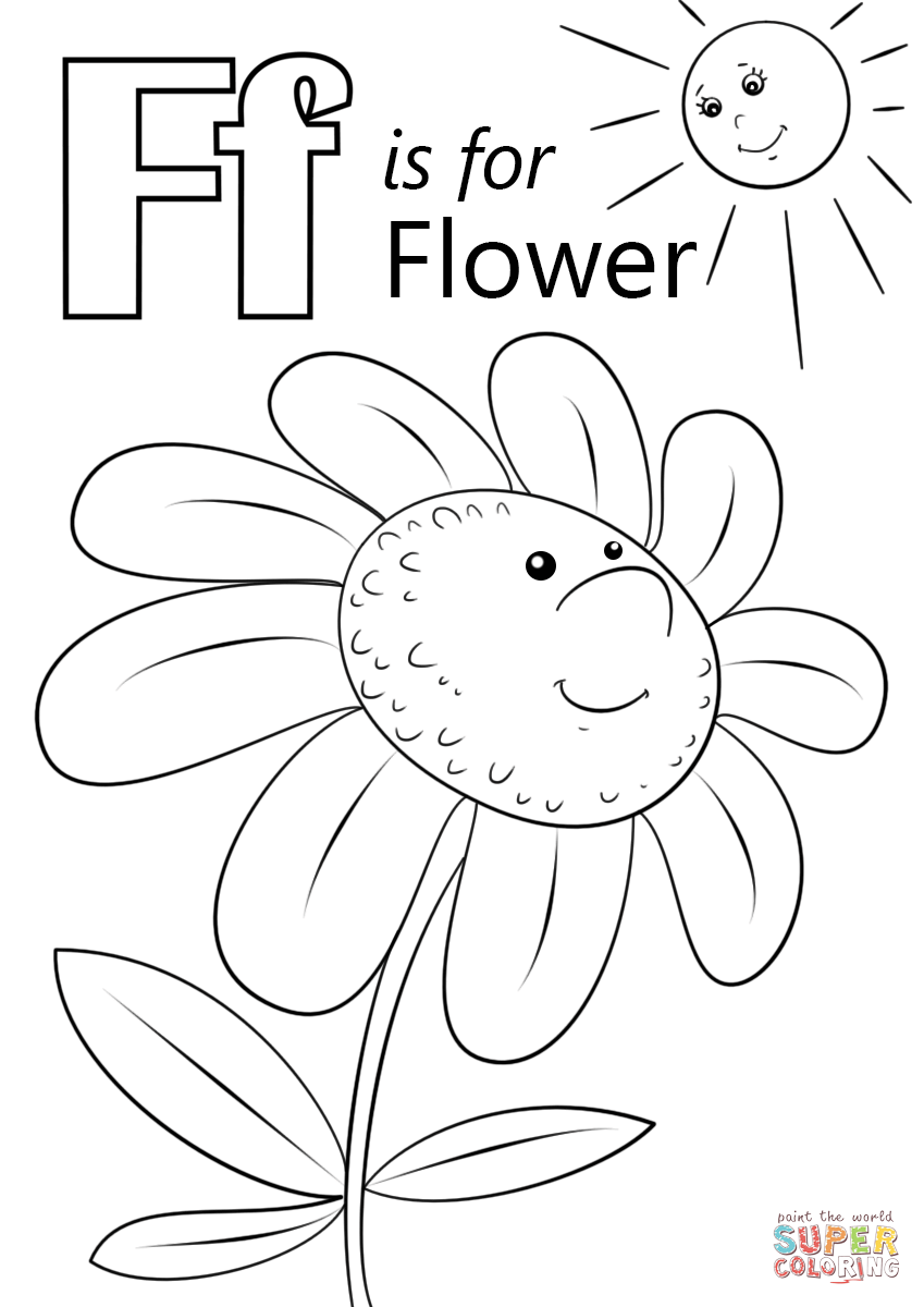 f coloring pages for preschoolers letter f is for fish coloring page free printable for pages f coloring preschoolers