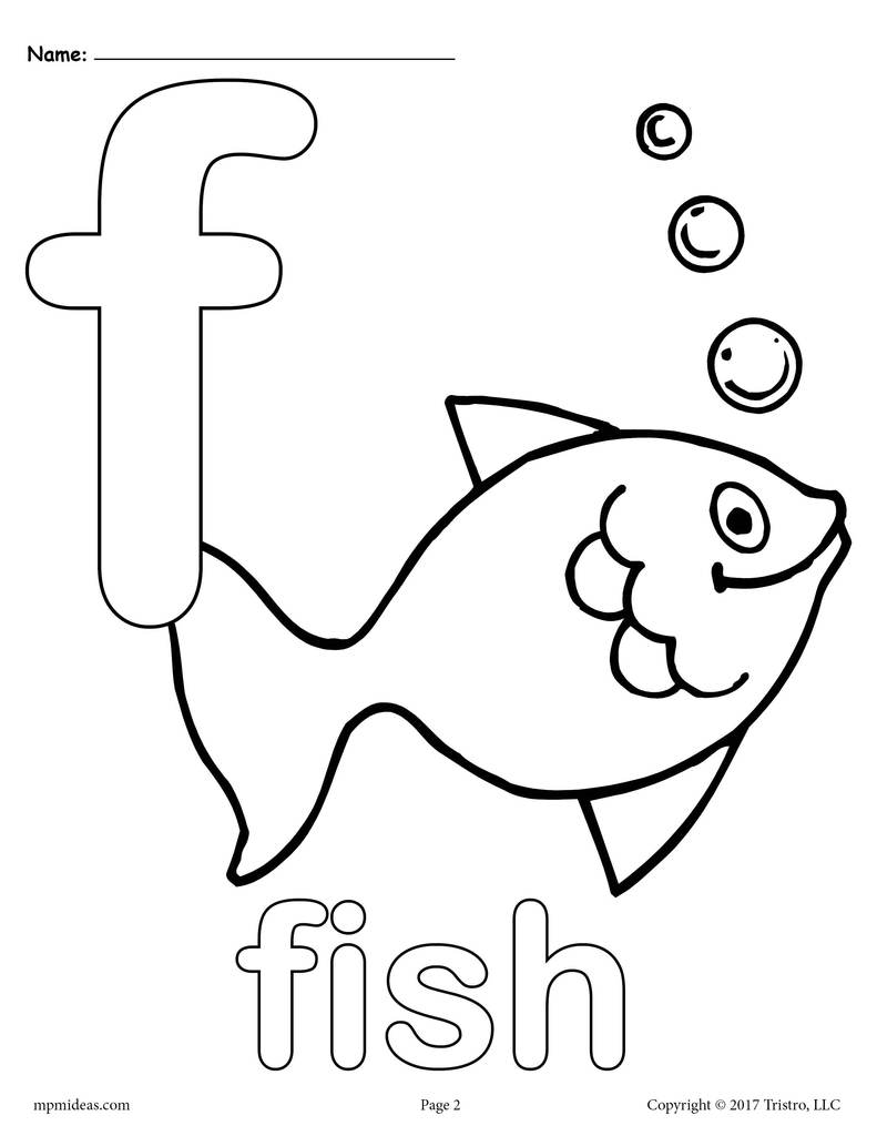 F coloring pages for preschoolers