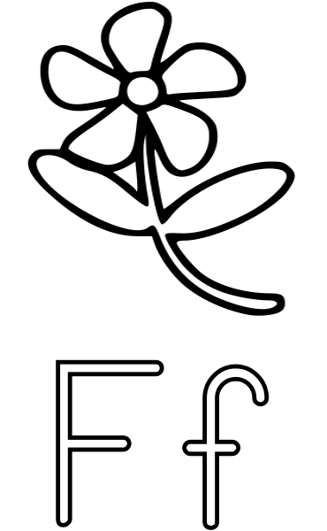 f is for flower abc pre k coloring activity sheet f is for flowers flower f is for