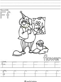 f is for flower alphabet online coloring pages page 1 for flower f is
