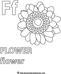 f is for flower f for flower free alphabet s599e coloring pages printable f for is flower