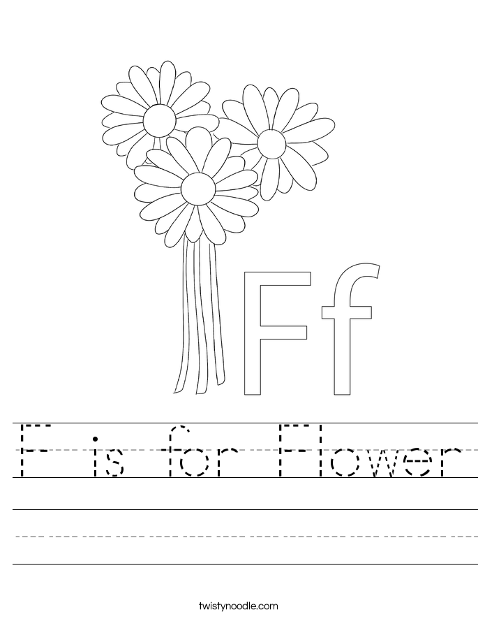 f is for flower f is for flower coloring page twisty noodle is f for flower