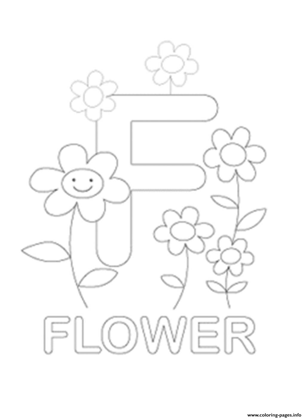 f is for flower flower alphabet coloring pages for f is flower