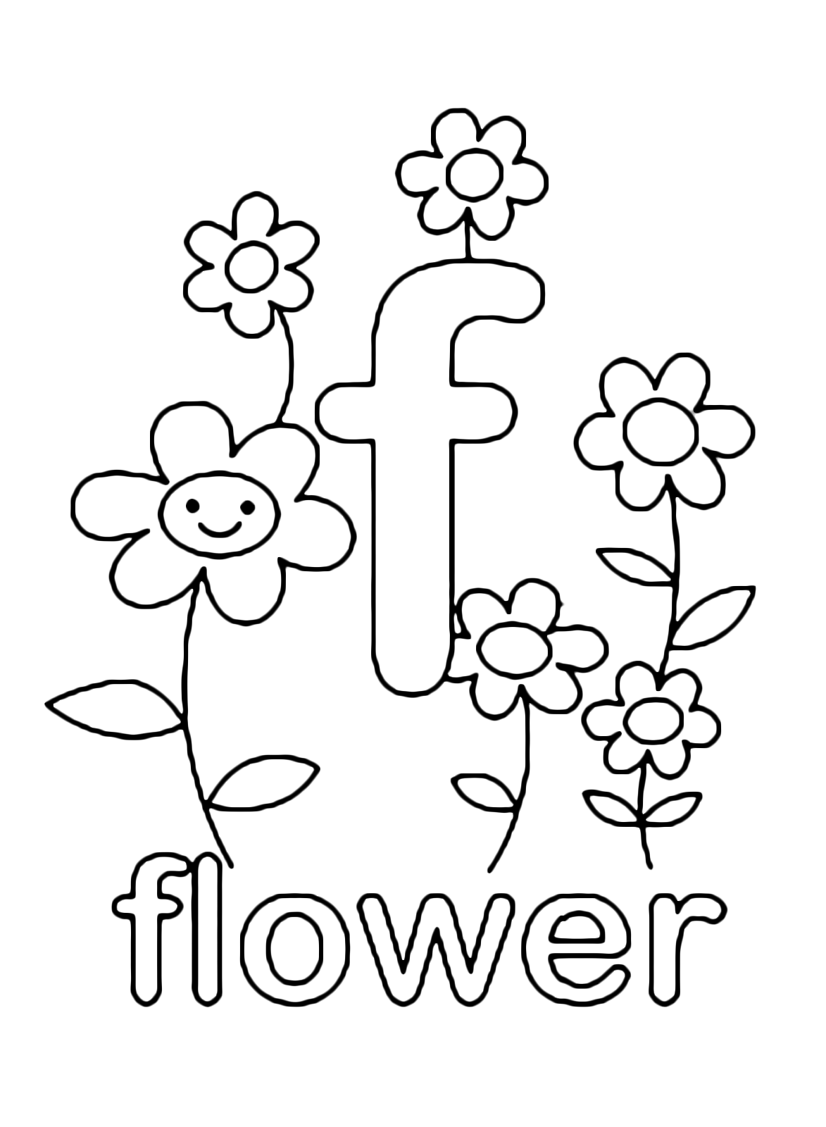 f is for flower the learning site is for flower f
