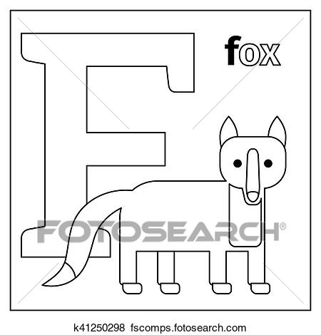 f is for fox coloring page f for fox alphabet animals coloring page learn by big for fox is page coloring f