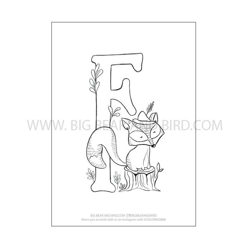 f is for fox coloring page f is for fox book twisty noodle f fox is page coloring for