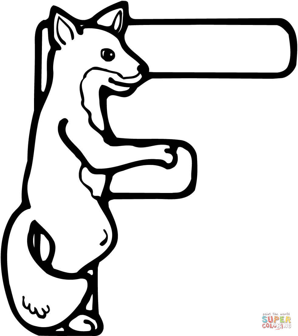f is for fox coloring page f is for fox coloring page coloringcom f coloring is for fox page