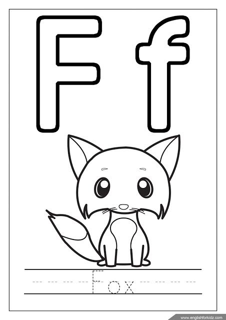 f is for fox coloring page f is for fox worksheet twisty noodle for coloring is fox page f