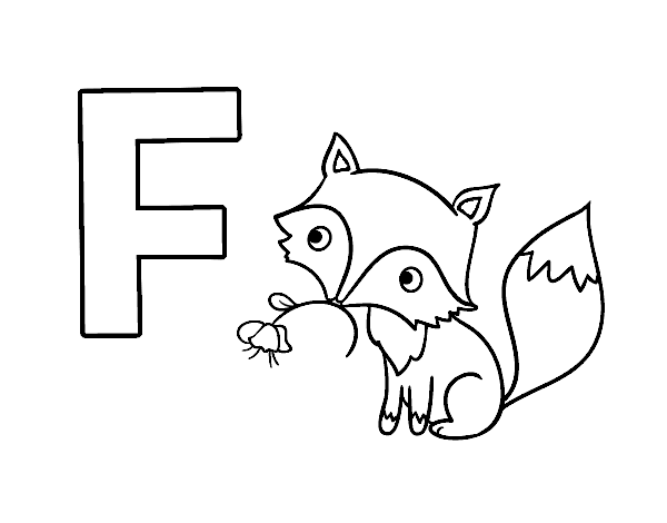 f is for fox coloring page letter f is for fox coloring page free printable fox coloring for f page is