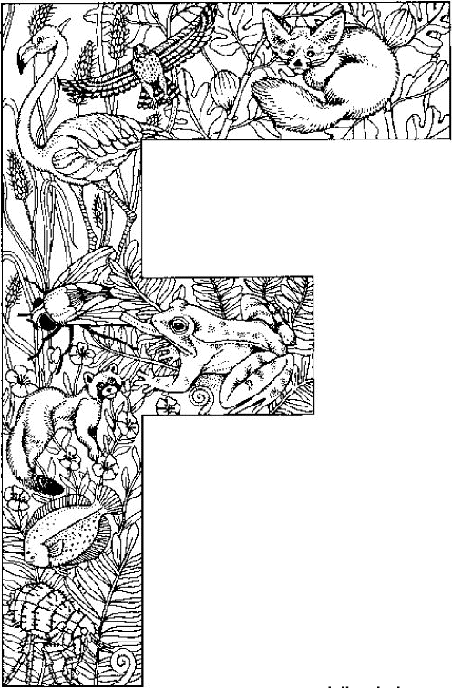 f is for fox coloring page quotfquot for fox falcon flamingo fly frog fish flea page is coloring fox f for