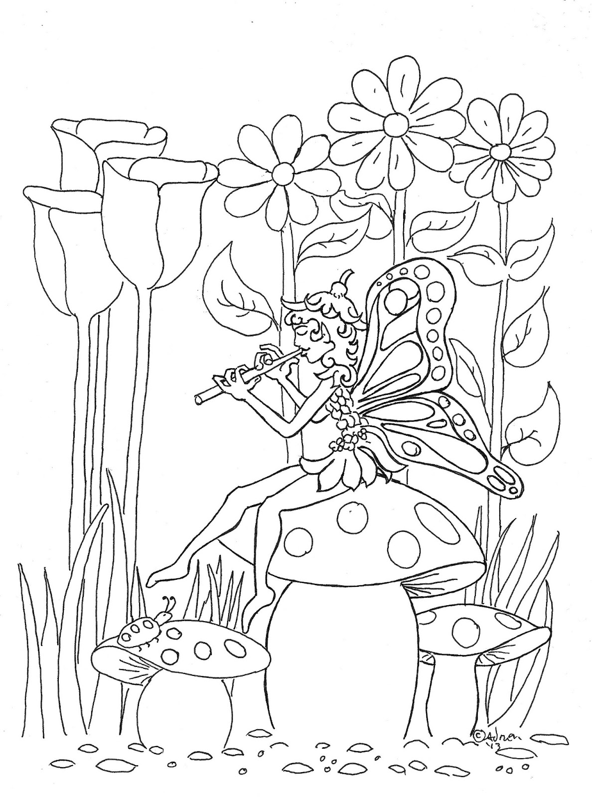 fairy coloring coloring pages for kids by mr adron pixie fairy print coloring fairy