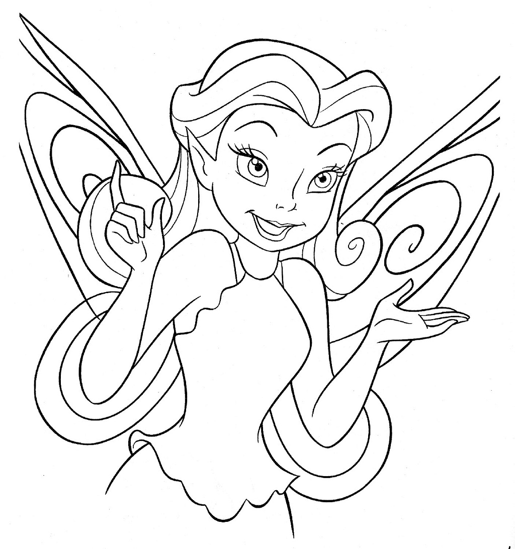 fairy coloring pictures disney fairies coloring pages 3 disneyclipscom pictures fairy coloring