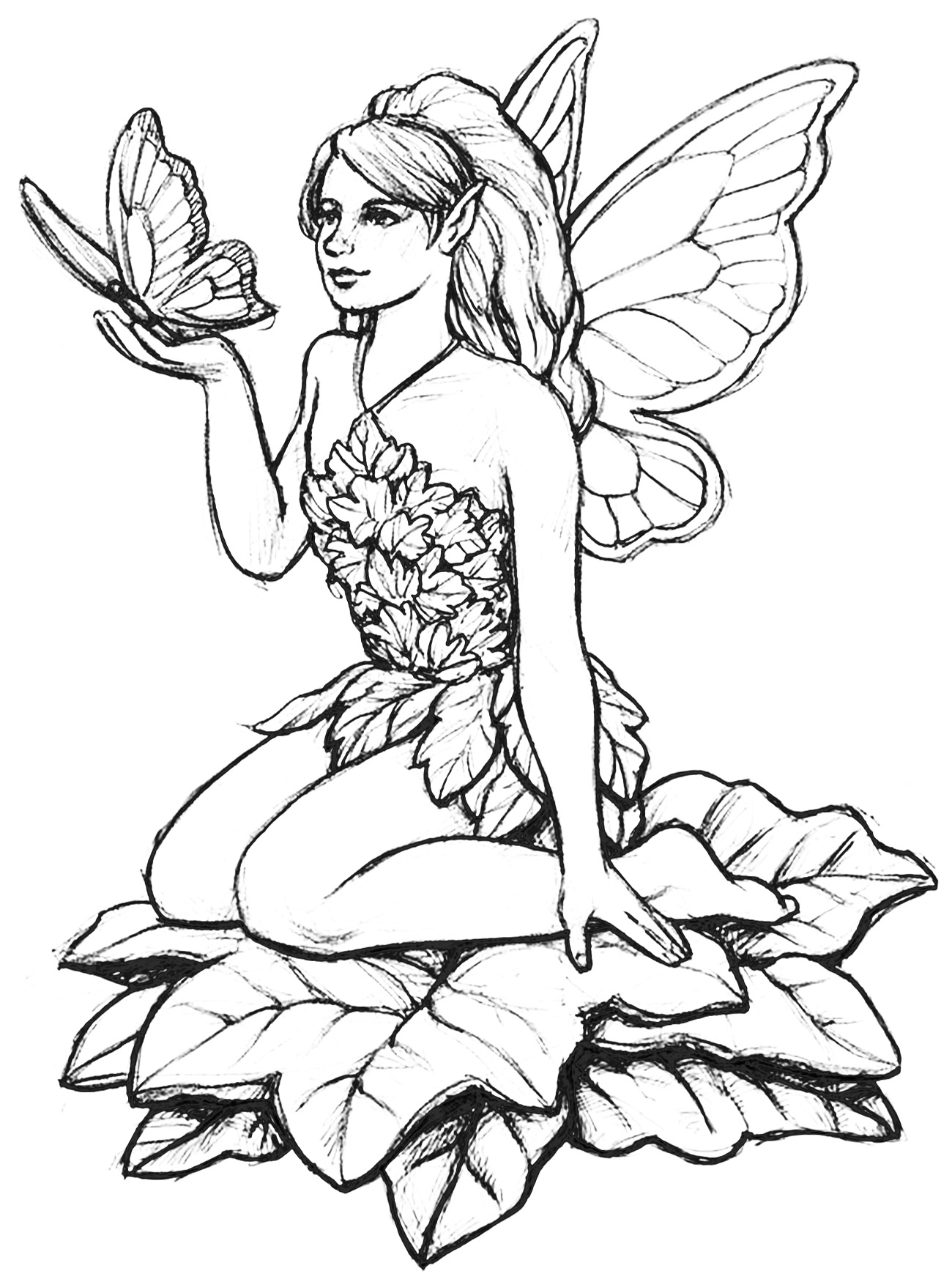 Fairy coloring pictures