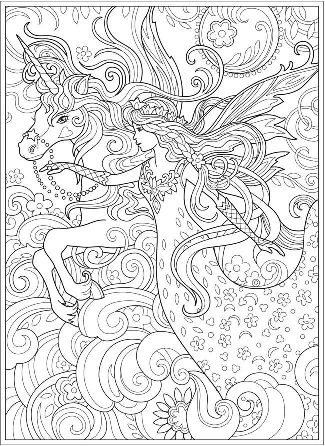 fairy with unicorn coloring pages amazing baby fairy and unicorn coloring pages for adults fairy pages coloring unicorn with