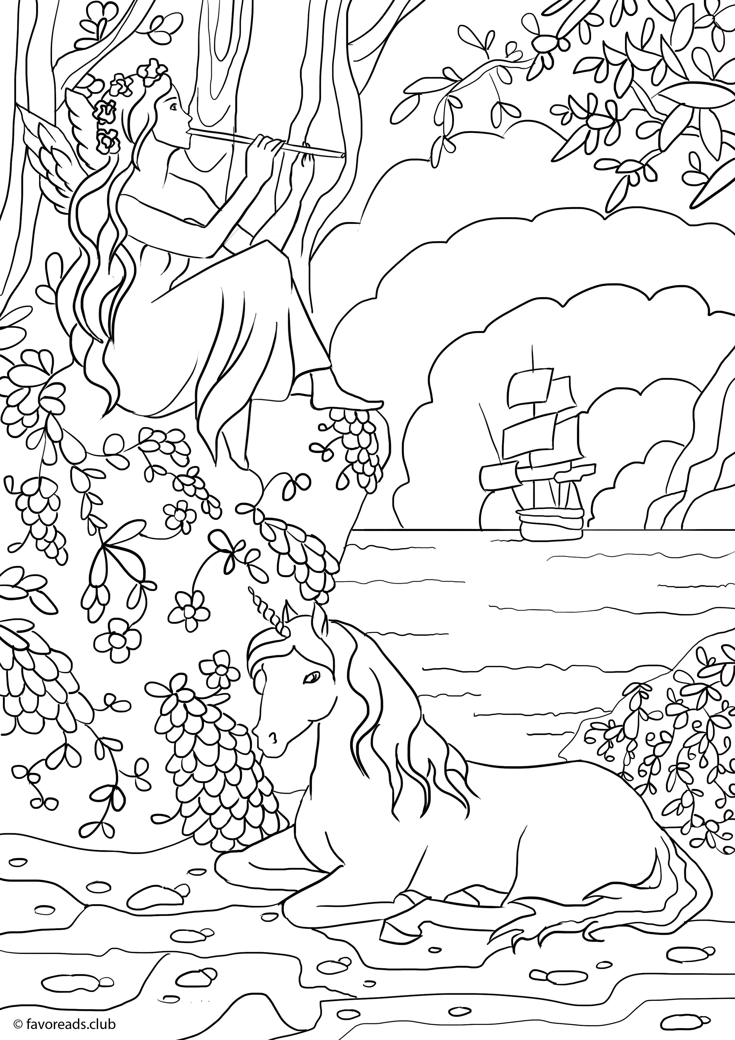 fairy with unicorn coloring pages fairy and unicorn coloring pages for adults wwwchinabme with pages coloring unicorn fairy
