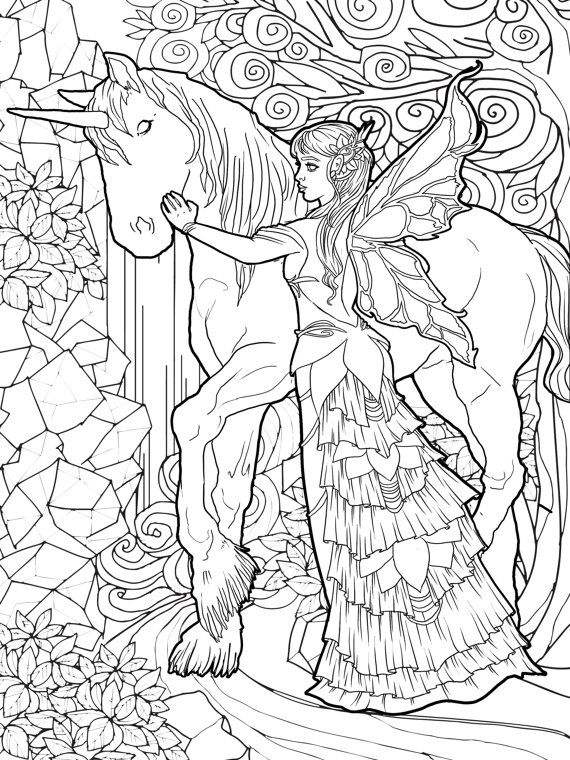 fairy with unicorn coloring pages fairy boy with unicorn coloring pages unicorn coloring unicorn with fairy pages coloring