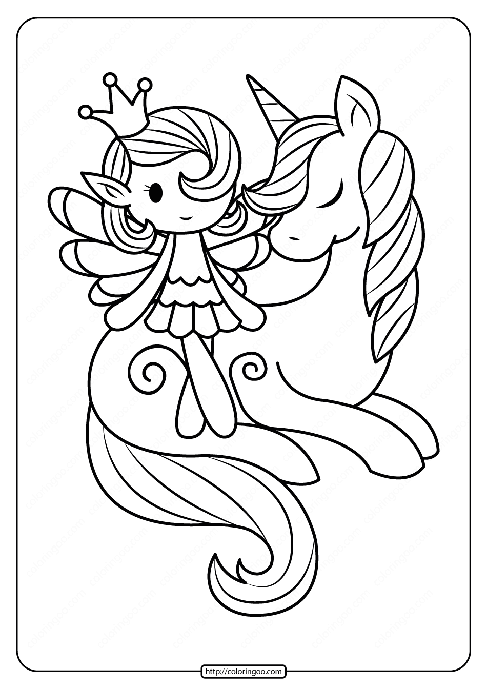 fairy with unicorn coloring pages unicorn and fairy coloring pages icolor quothorses more at coloring with unicorn fairy pages