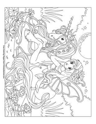 fairy with unicorn coloring pages unicorn with fairy coloring page free printable coloring pages unicorn fairy with coloring