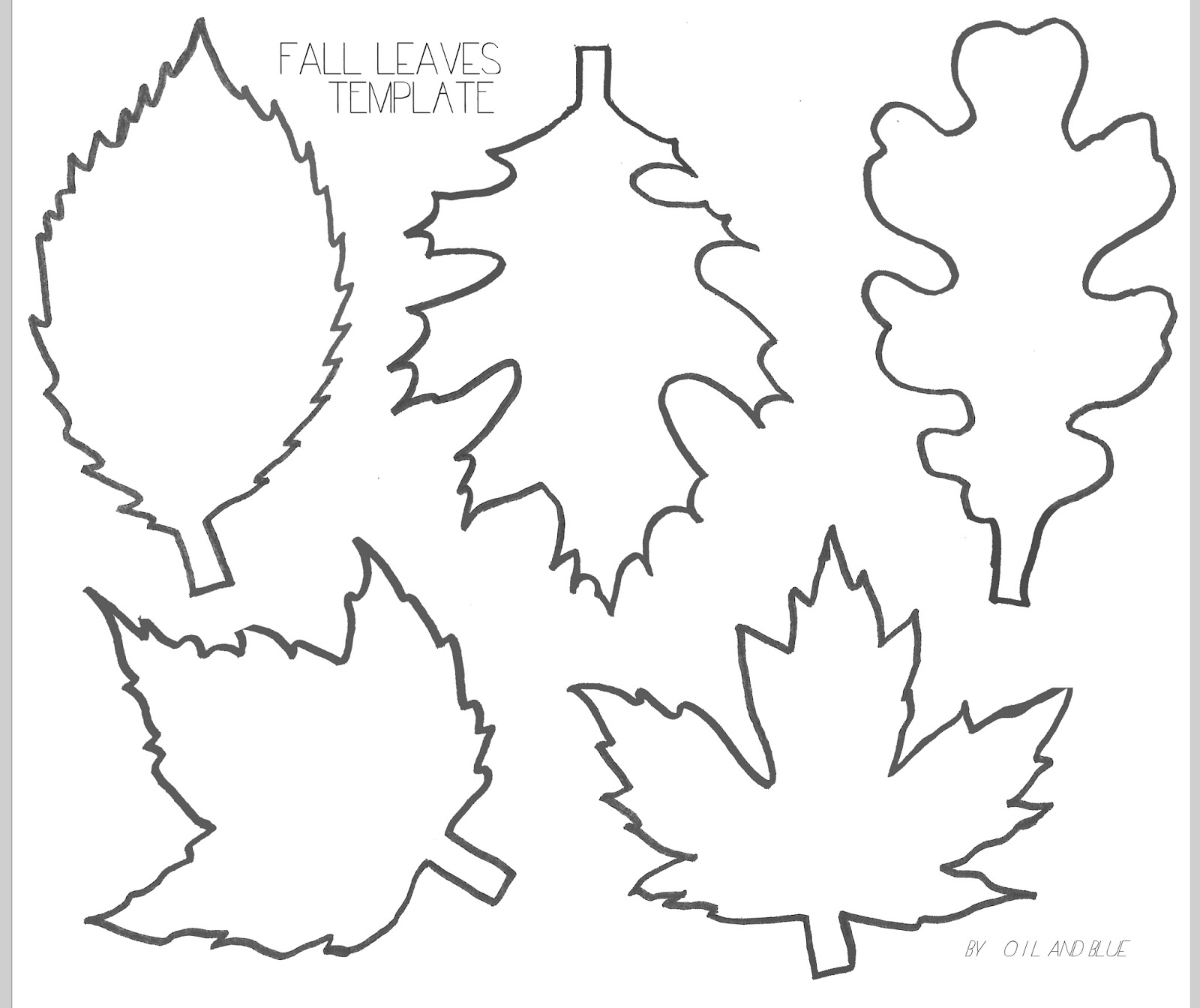 Fall leaves print out