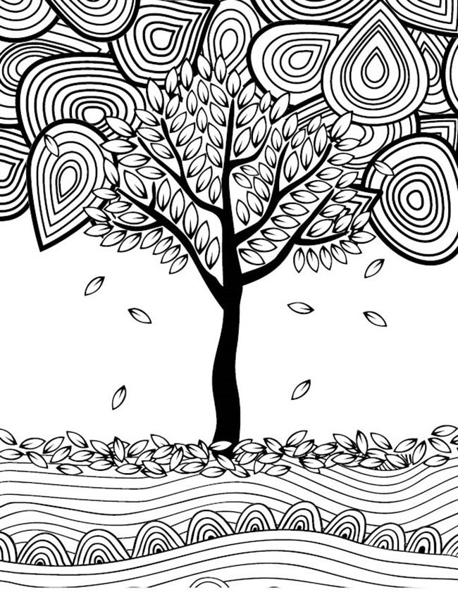 fall trees coloring pages 12 fall coloring pages for adults free printables fall pages trees fall coloring