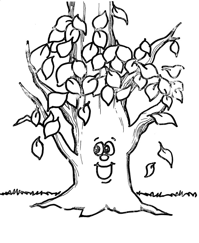 fall trees coloring pages leafless tree outline free download on clipartmag fall coloring trees pages