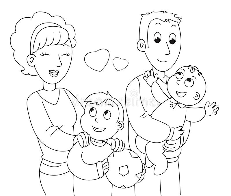 family clipart coloring coloring family vector stock vector illustration of coloring clipart family