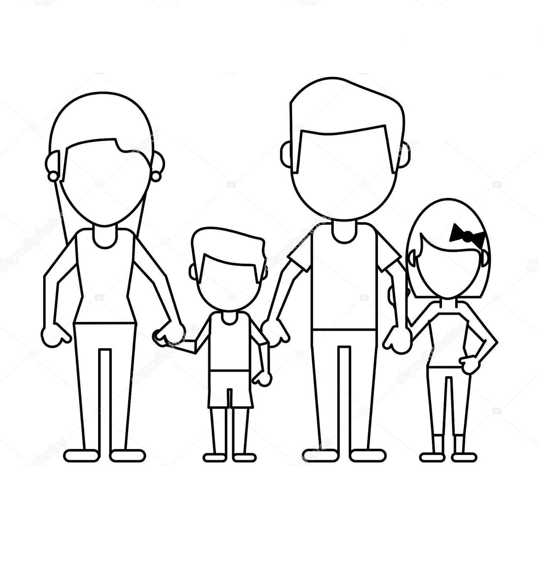 family clipart coloring family clipart coloring pages and other free printable coloring family clipart