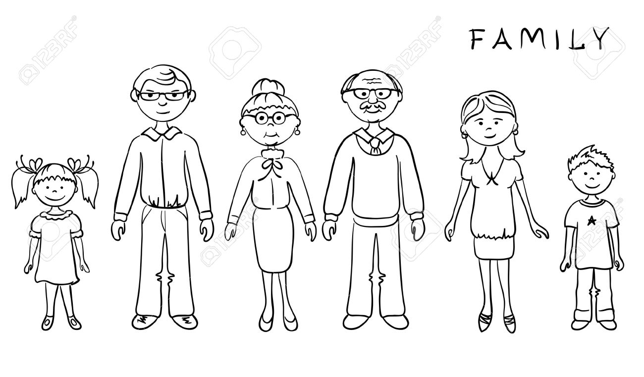 family clipart coloring family coloring pages getcoloringpagescom clipart coloring family