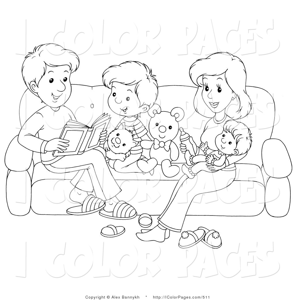 family clipart coloring happy family coloring pages kidsuki clipart coloring family