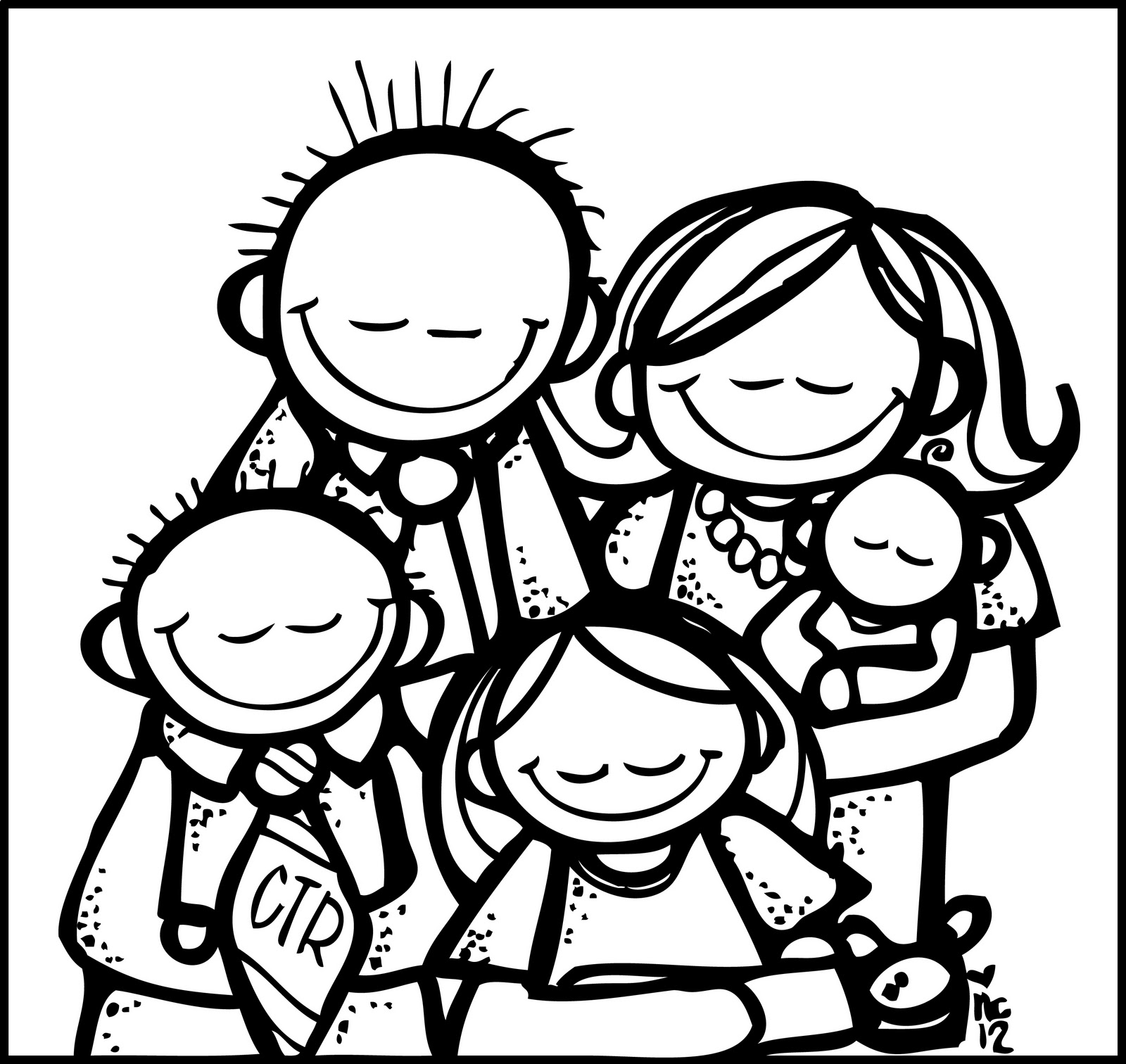 family clipart coloring myfamily clipart family coloring