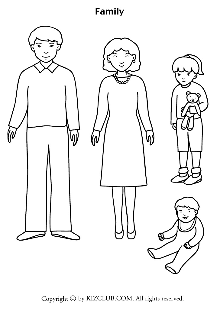family clipart coloring royalty free clip art illustration of a coloring page coloring clipart family