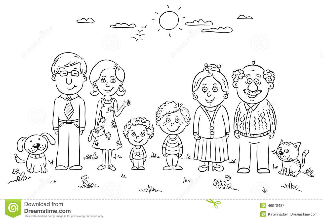 family clipart coloring stick figure coloring pages at getcoloringscom free family clipart coloring