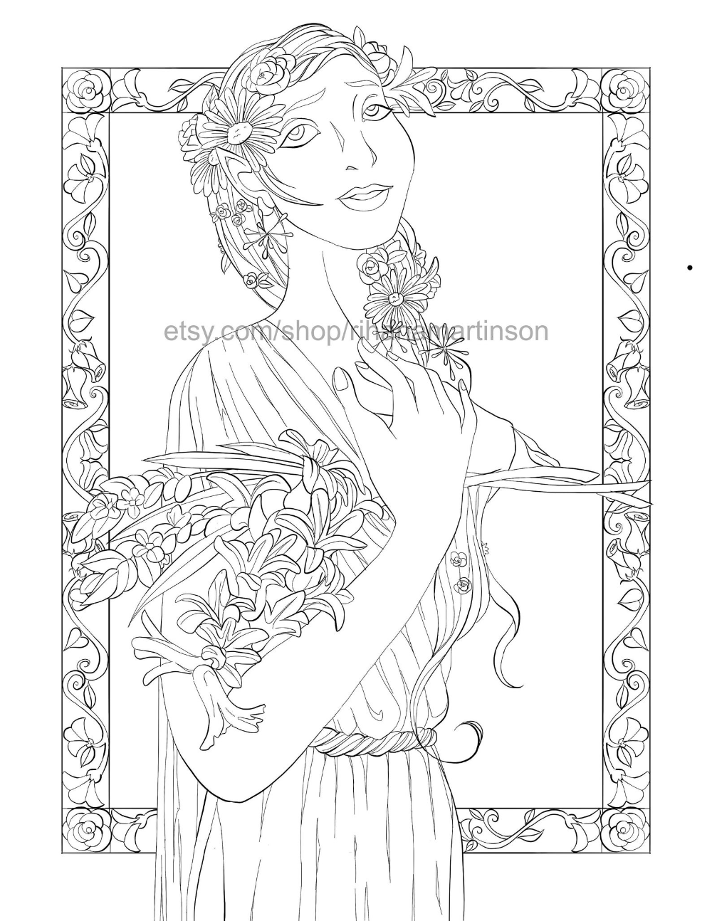 fantasy elf coloring pages coloring page for adults fantasy elf elven woman with fantasy pages coloring elf