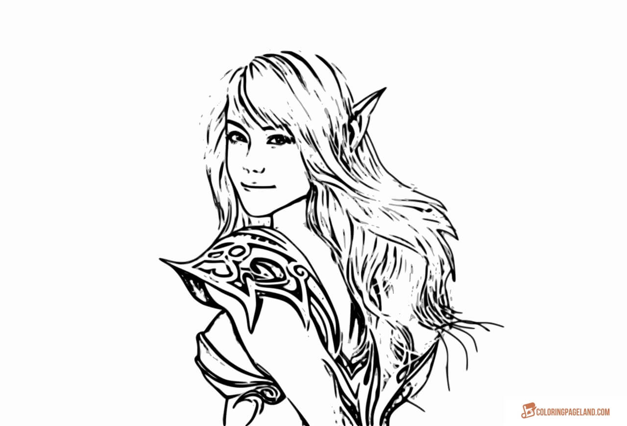 fantasy elf coloring pages elf coloring pages incredible free printable collection fantasy coloring pages elf