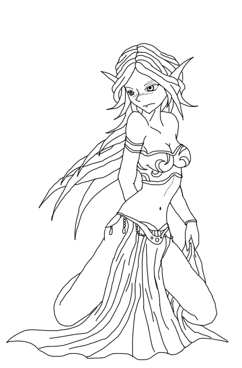 fantasy elf coloring pages elven beauty linearts by fantasy art dolls on deviantart coloring pages fantasy elf