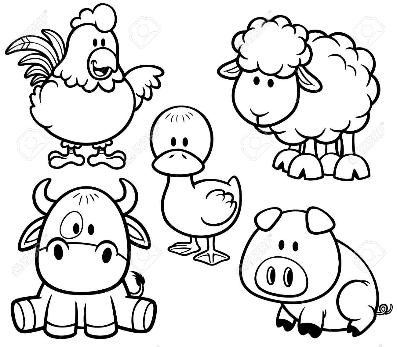 farm animals pictures printable free printable farm animal coloring pages for kids animals pictures farm printable