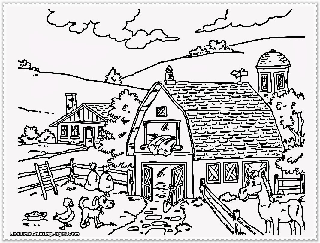 farm coloring pages farm free to color for children farm kids coloring pages pages farm coloring