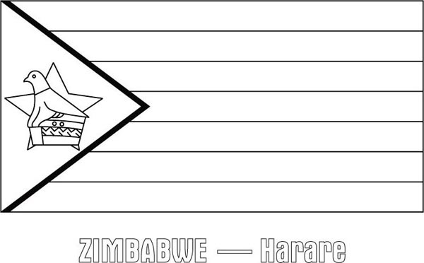 flag of zimbabwe coloring page zimbabwe nation flag coloring page download print coloring flag zimbabwe page of