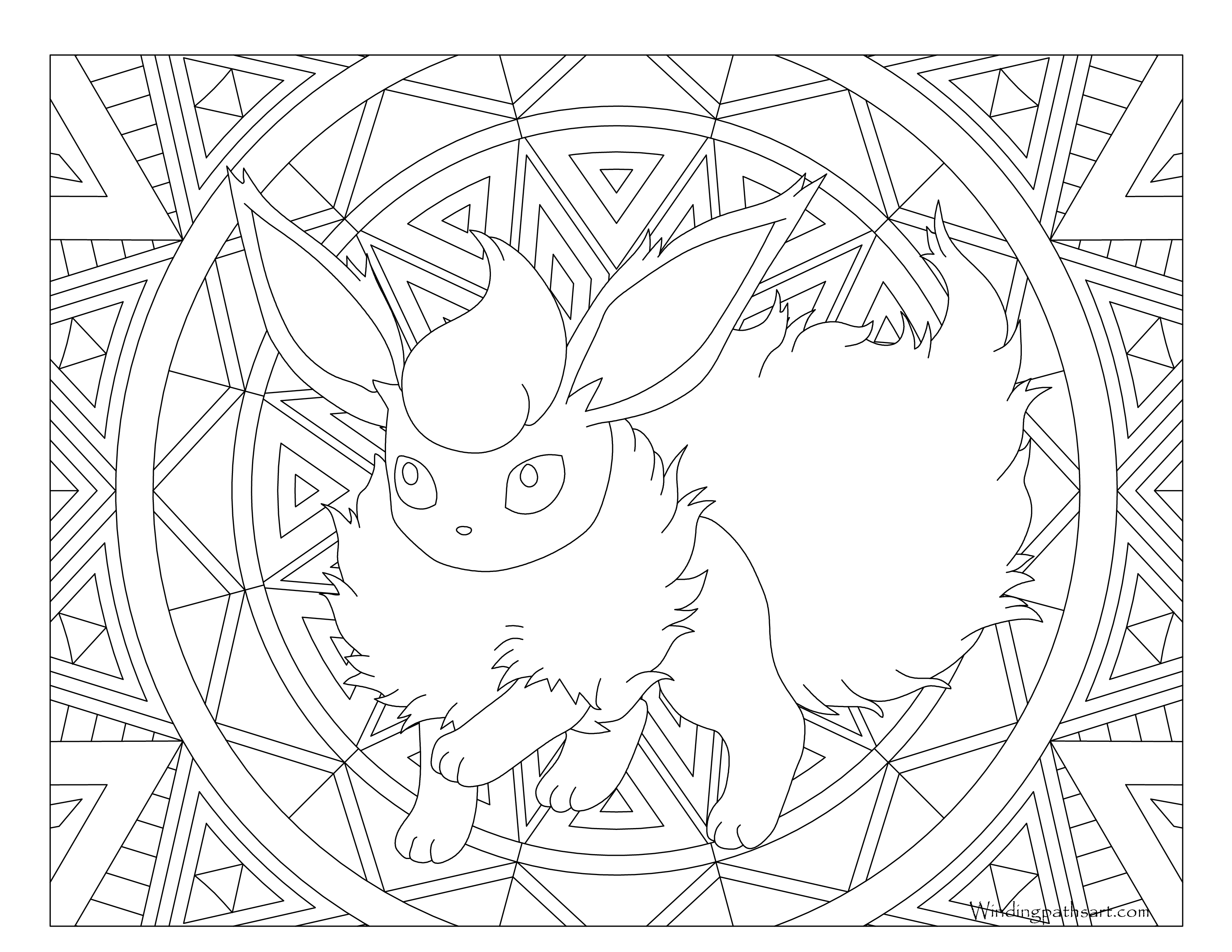flareon pokemon coloring page flareon coloring page coloring pages page flareon coloring pokemon