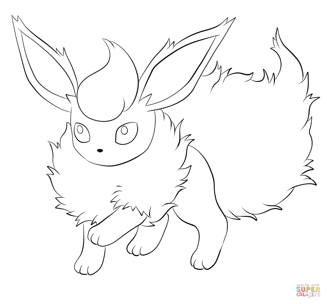 flareon pokemon coloring page flareon drawing at getdrawings free download coloring pokemon page flareon