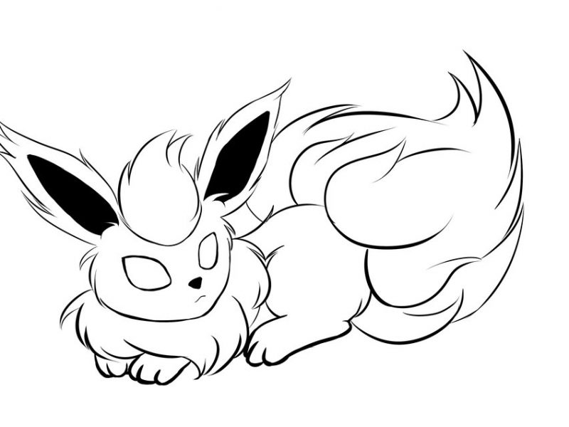 flareon pokemon coloring page pokemon coloring pages fennekin at getcoloringscom free flareon page pokemon coloring
