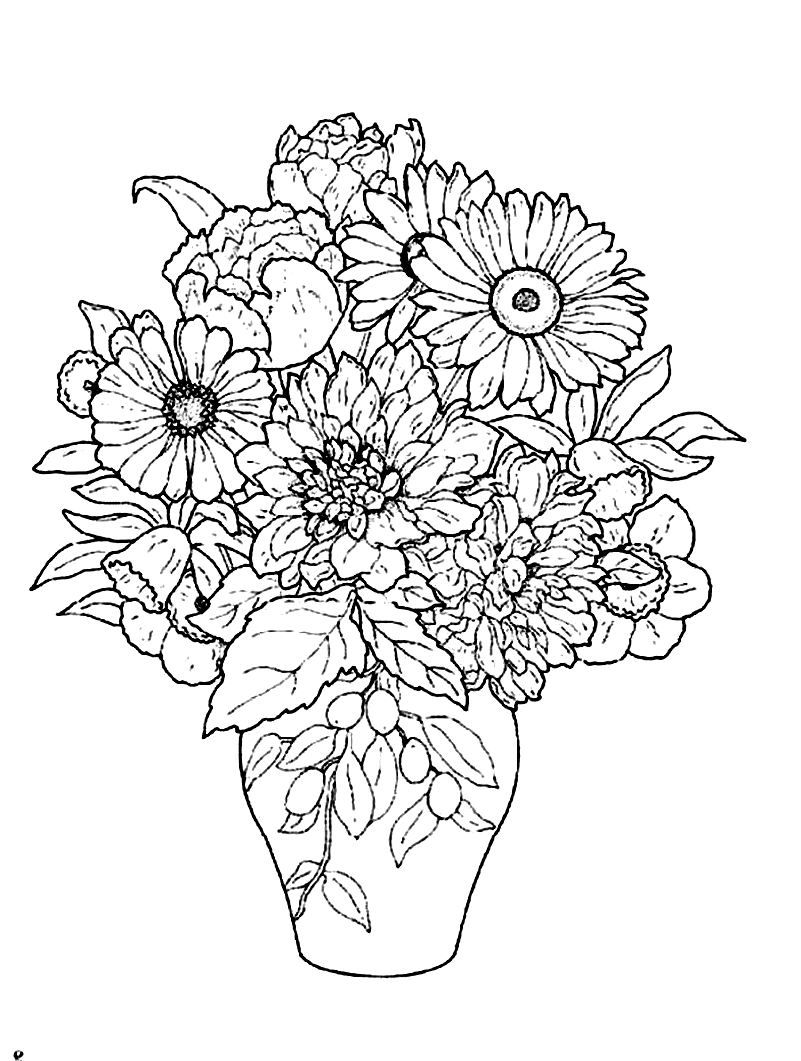 flower vase pictures to color beautiful flower vase flower coloring pages coloring pictures flower to color vase
