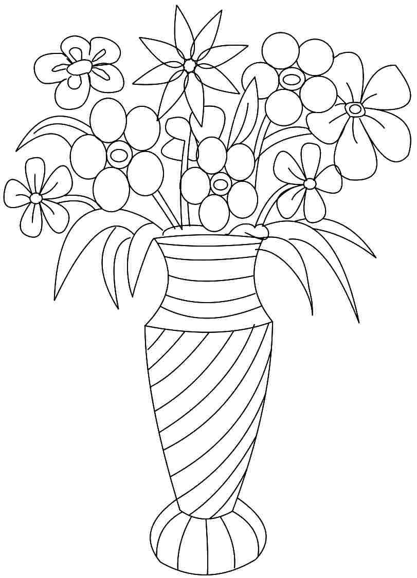 flower vase pictures to color colour drawing free wallpaper april 2014 color pictures flower to vase