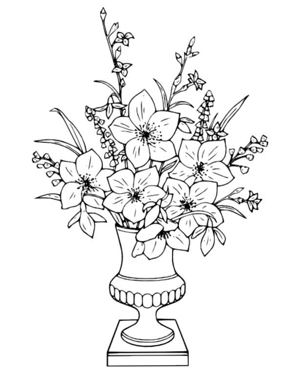 flower vase pictures to color flowers in a vase coloring pages download and print color to flower pictures vase