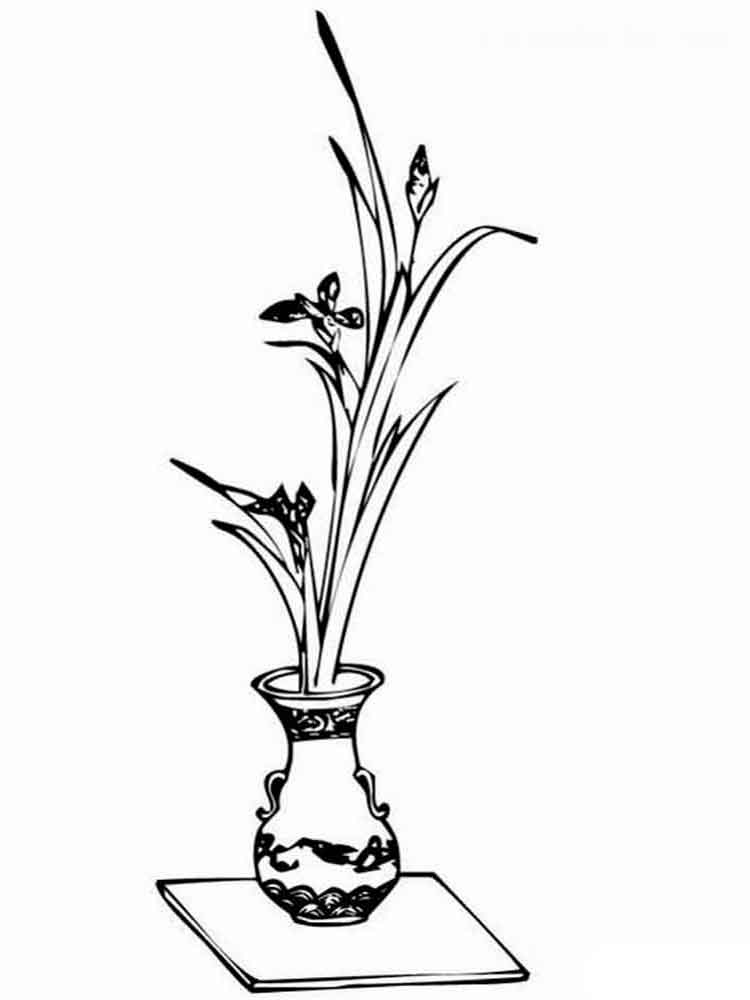 flower vase pictures to color qetupa coloring pages of flowers in a vase vase to pictures color flower