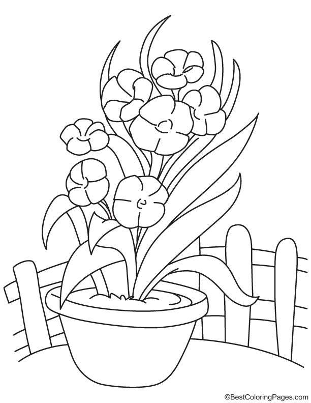 flower vase pictures to color vase and flowers coloring page coloring home flower pictures color to vase