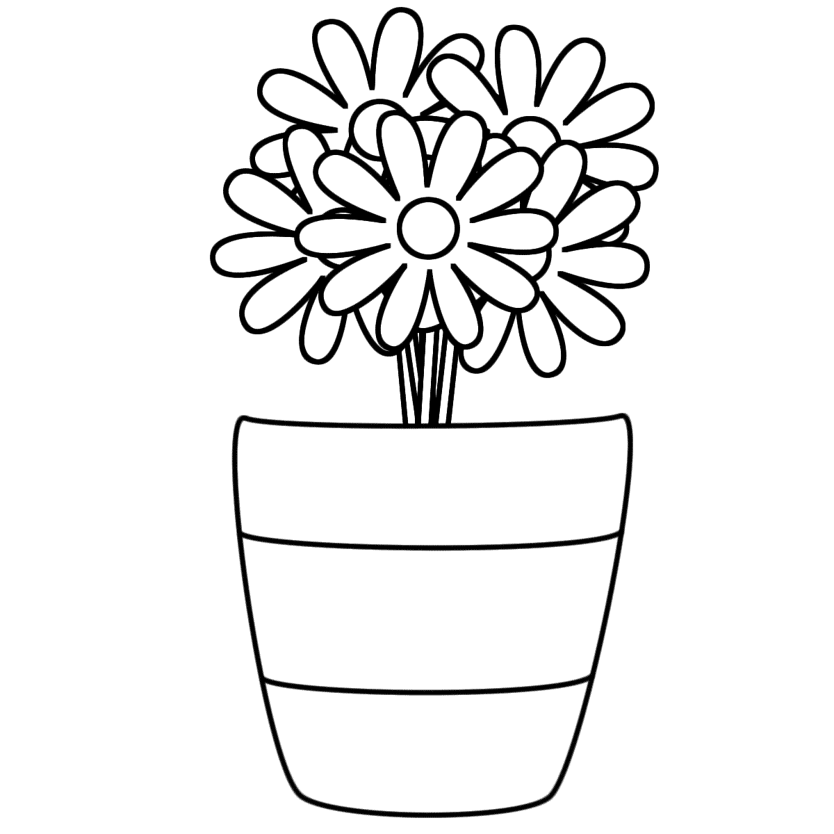flower vase pictures to color vase and flowers coloring page coloring home pictures flower vase color to