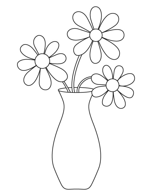 flower vase pictures to color vase coloring pages getcoloringpagescom to pictures color vase flower